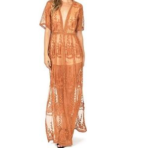 NEW Haute Monde Sheer Maxi Dress